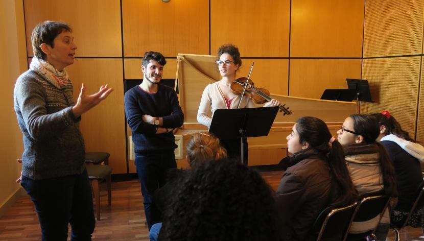 Ateliers autour du violon au Centre de musique baroque deVersailles