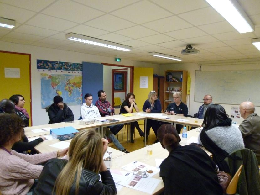Rencontre de professionnels du spectacle à l'Ecole de la deuxièmechance