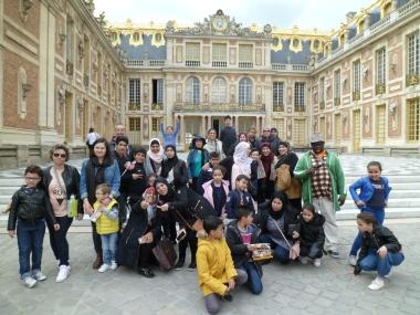 22.04.17 visite château de Versailles centres sociaux 1